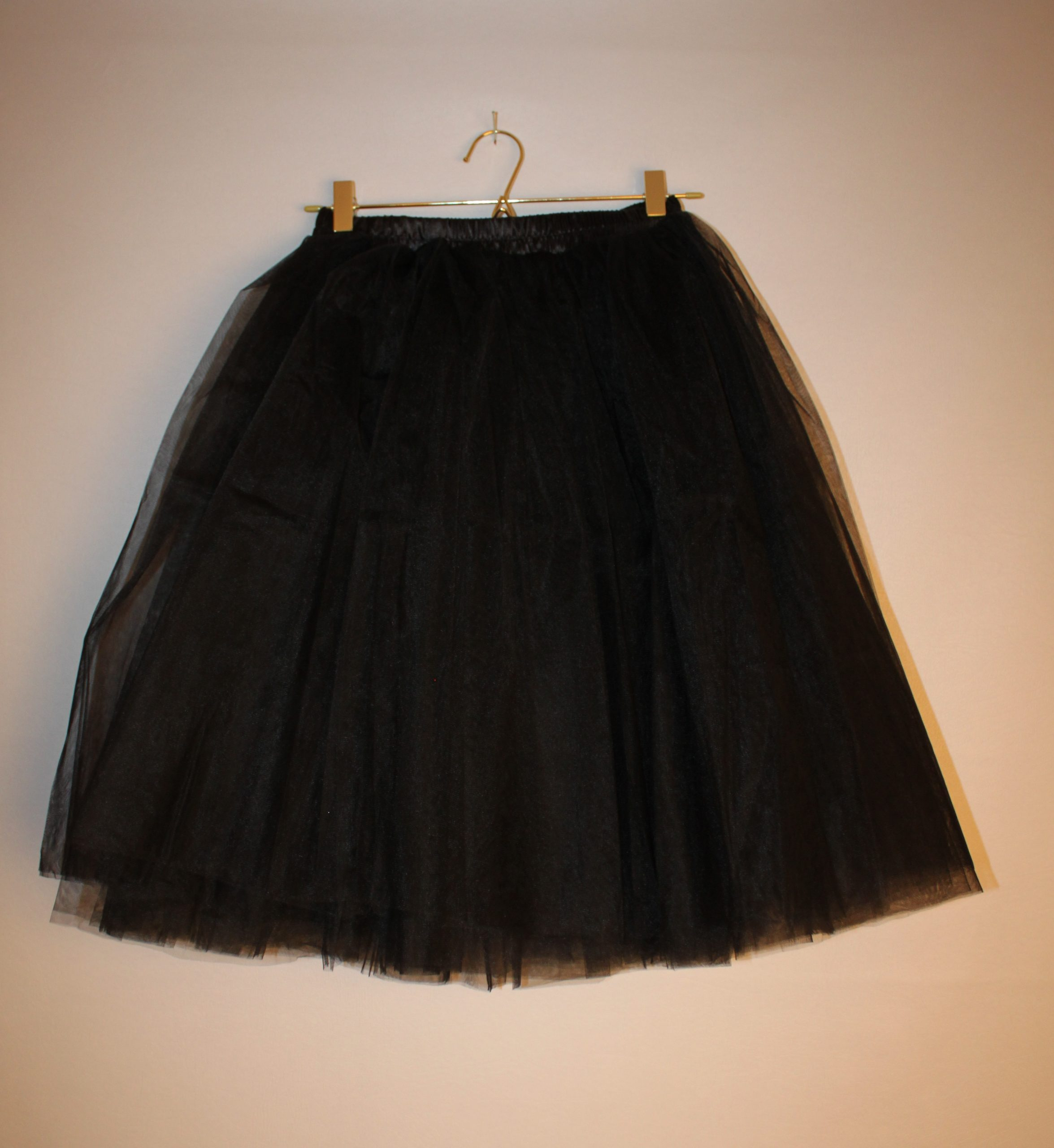 Rockabilly Black Party Tulle Skirt